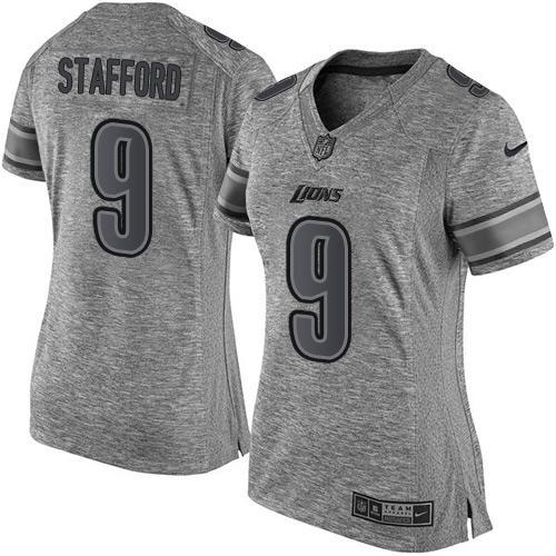 cheap 5x jerseys Women\'s Detroit Lions #9 Matthew Stafford Gray ...