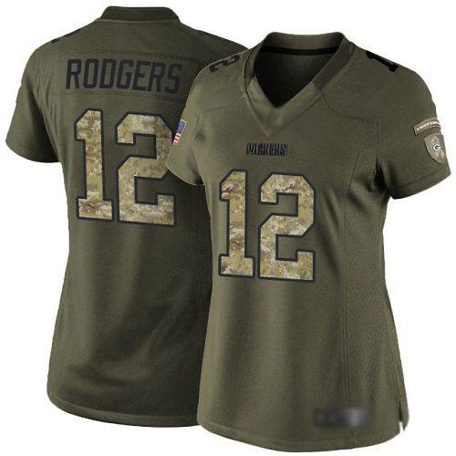 cheap nfl jerseys canada Women\'s Green Bay Packers #12 Aaron ...